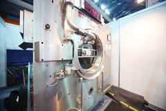 Presentatie van industriële wasmachines Royalty-vrije Stock Fotografie