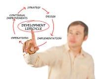 Presentatie van ontwikkelingslevenscyclus stock afbeeldingen