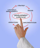 Presentatie van ontwikkelingslevenscyclus royalty-vrije stock foto