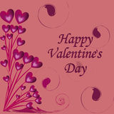 Presentatie voor de dag van de valentijnskaart Royalty-vrije Illustratie