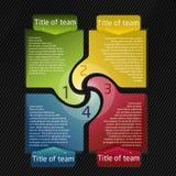 Presentatie voor team Stock Afbeelding