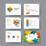 Presentatiedia's met infographic elementen Stock Afbeelding