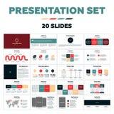 Presentatiemalplaatjes - 20 dia's Stock Fotografie
