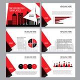 Presentatiemalplaatjes, Infographic-vlakke het ontwerpreeks van het elementenmalplaatje Royalty-vrije Stock Fotografie