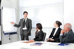Presentation. Business people sitting in a meeting Royalty Free Stock Photography