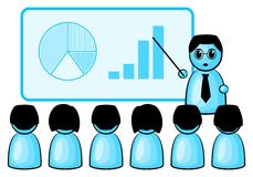Presentation. Some symbolic figures at a business presentation stock illustration