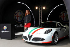 Presentation of Alfa Romeo. Russian stage of the Superbike World Championship, July 21, 2013, in Moscow Raceway, Moscow, Russia. stock photo