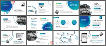 Free Presentation And Slide Layout Background. Design Blue And Green Royalty Free Stock Photos - 123882488