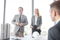 Presentation of architects for investors Stock Image