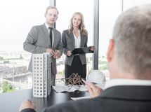 Presentation of architects for investors Royalty Free Stock Image