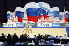 Presentation of artistic gymnastics from Ukraine Royalty Free Stock Photos