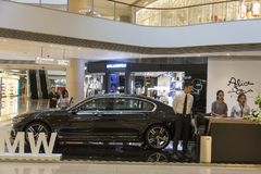 Presentation av BMW bilen i Shanghai, Kina Royaltyfria Bilder