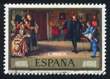 Presentation av Don Juan de Austria arkivbild