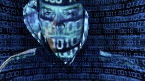 Presentation av en en hacker stock video