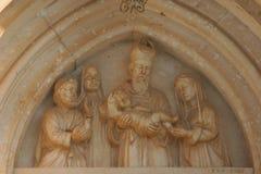 Presentation av Jesus på tempelet royaltyfria bilder