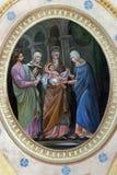 Presentation av Jesus på tempelet royaltyfri bild