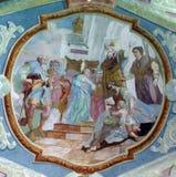 Presentation av Jesus på tempelet royaltyfria foton