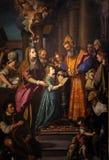 Presentation av Mary i templet royaltyfria foton