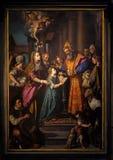 Presentation av Mary i templet arkivfoto