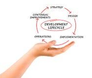 Presentation av utvecklingslifecyclen royaltyfria bilder