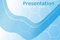 Presentation background. With abstract wave Stock Photos