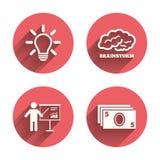 Presentation billboard, brainstorm. Cash money Royalty Free Stock Photography