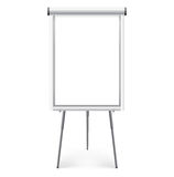 Presentation board. White blank board for presentation Royalty Free Stock Images
