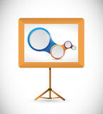 Presentation board and diagram illustration Stock Photo