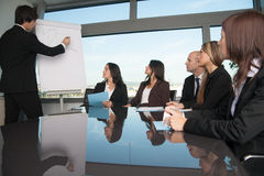 Presentation in board room Stock Photos