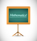 Presentation board with the word mathematics. Stock Image