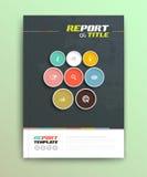 Presentation of brochure cover design template Stock Image