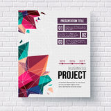 Presentation brochure template Royalty Free Stock Images