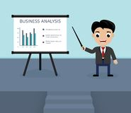 Presentation of business analysis Royalty Free Stock Images