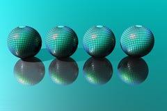 Presentation Business Balls. Presentation Graphic Business, balls in green Stock Image