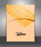 Presentation of business poster Stock Image