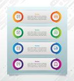 Presentation business step infographic vector design with horizontal shape for finance corporate can be used for banner, brochure royalty free illustration