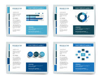 4 presentation business templates. Stock Photo