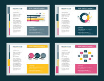 4 presentation business templates. Royalty Free Stock Photo