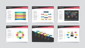 6 presentation business templates. Stock Image