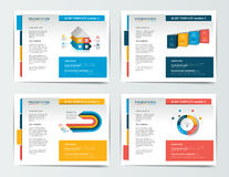 4 presentation business templates. Royalty Free Stock Image