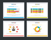 4 presentation business templates. Royalty Free Stock Images