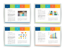 4 presentation business templates. Stock Images