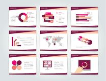 9 presentation business templates. Stock Images