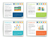 4 presentation business templates. Infographics for leaflet, poster, slide, magazine, book, brochure, website, print. Royalty Free Stock Images