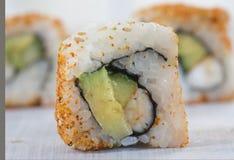 Presentation of Californian sushi rolls Stock Photo