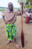 PRESENTATION CEREMONY OF FISHERMEN IN RURAL AREAS IN IVORY COAST Stock Image