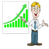Presentation of chart Stock Images