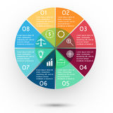 Presentation circle Royalty Free Stock Image