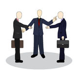 Presentation of colleagues at the meeting. Business etiquette. Handshake between businessmen Stock Image