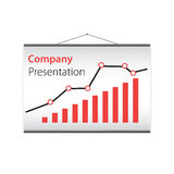 Presentation of the company's on projector screen Stock Photography